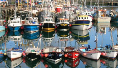 Fishing boats at St. Ives